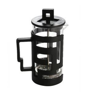 350ml glass tea jug with black shell