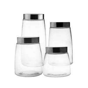 China wholesale Kitchen Glass Set – 2100ml-900ml Glass Storage Jar With Lid – Kotto