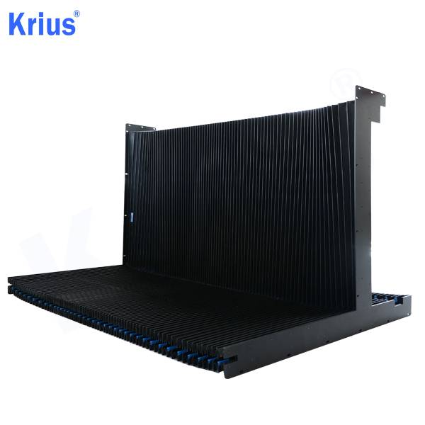 China Gold Supplier for Accordion Rubber Cover - Good Quality Folding Machine Slideway Protective Rail Guard  – Krius