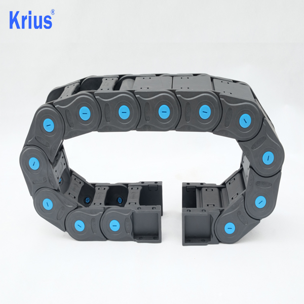 China Wholesale High Speed Drag Chain Manufacturers - Robust And Tightly Closed Plastic Electrical Cable Chain Wire Track  – Krius