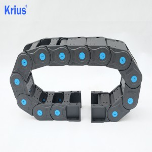 Manufacturer of Plastic Ball Chain Connector - Good Protective Bridge Type Plastic Open Cable Drag Chain  – Krius