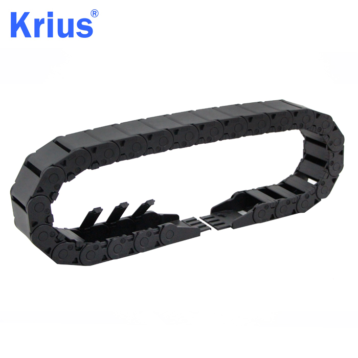 Factory Price Robot Cable Drag Chain - Stable CNC Ladder Cable Carrier Drag Chain with Four Limit Blocks  – Krius