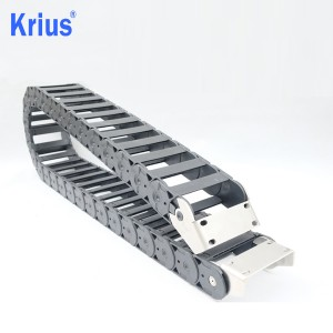 Cheap price Track Energy Cable Chain - Length Adjustable Low Vibration CNC Cable Carrier Chain Management  – Krius