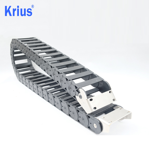 Good Quality 10*40 Cable Carrier - Length Adjustable Low Vibration CNC Cable Carrier Chain Management  – Krius