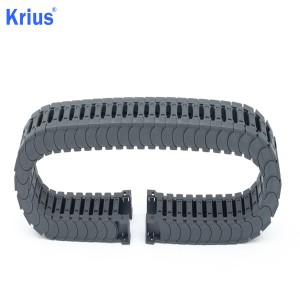Europe style for Steel Cable Carriers Drag Chains – Custom Plastic Nylon CNC Flex Track Guide Rail Drag Chain  – Krius