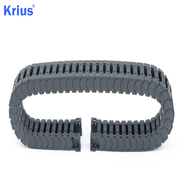Super Lowest Price Bridge Type Energy Chain - Custom Plastic Nylon CNC Flex Track Guide Rail Drag Chain  – Krius