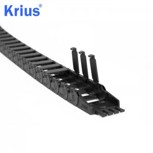 Krius Closed  Open Plastic Cable Drag Chain