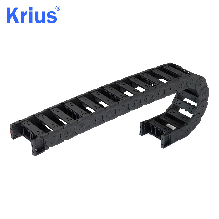High Quality for Cable Drag Chain Carrier - CNC Engineering Nylon Bridge Type Integrated Plastic Towline Wire Carrier Chain  – Krius
