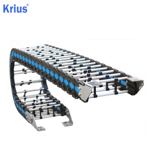Top Suppliers Plastic Energy Cable Chain - Bridge Type Aluminium And Plastic Cable Chain – Krius