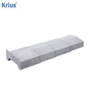 Factory wholesale CNC Laser Bellows - Large Strenched Bellow Telescopic Steel Cover – Krius