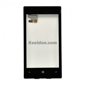 Touch Display With Copy Frame For Nokia Lumia 520 Grade A Black