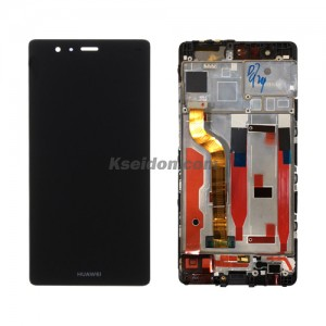 LCD Complete With Frame For Huawei P9 oi Black