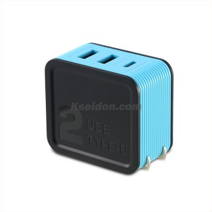 Kutry Adapter RP-U24 For CN 2USB Blue