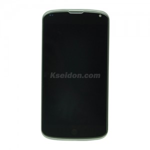 LCD Complete With Frame For LG Nexus 4 E960 Brand New With Grade Touch Screen Black