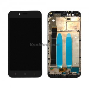 LCD Complete With Frame For MIUI M5X oi self-welded Black