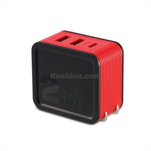 Kutry Adapter RP-U24 For CN 2USB Red