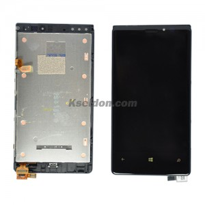 LCD Complete With Frame For Nokia Lumia 920 Brand New Self-Welded Black