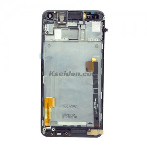 LCD Complete With Frame Sim Flex Cable For HTC One 801e Brand New Black