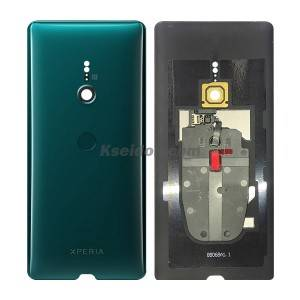 Battery Cover Without Fingerprint for Sony XZ3 NFC Green Kseidon