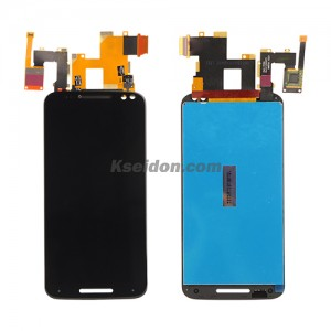 LCD with touch screen for Motorola X3 style Black