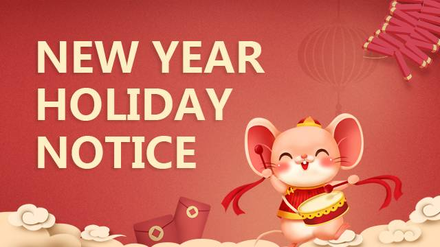 2020 New Year Holiday Notice