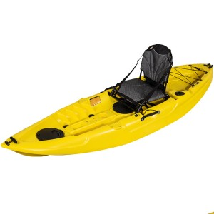Malibu Yellow fishing kayak with paddle