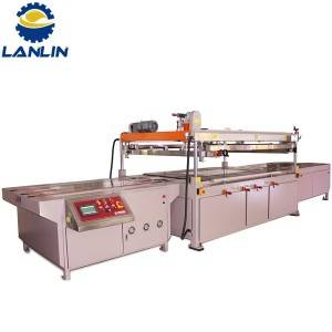 Format Large Industrial Glass Sheet shtratit të sheshtë Screen Printing Machine