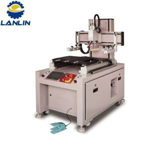 Screen Printing Machine Taybet Ji bo High Precision Double Work Table Glass Cover deşta