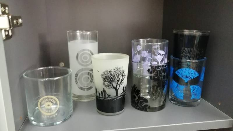 glass printing samples semi auto machine