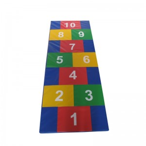 Kids Customized Gymnastic Floor Exercise Mat Colorful Number Play Mat