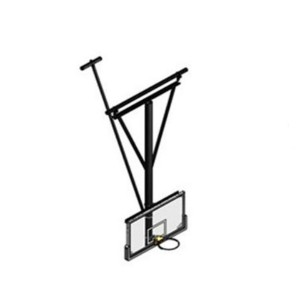 Qab nthab Mounting Basketball Backstop Hoop nrog tempered iav Backboard