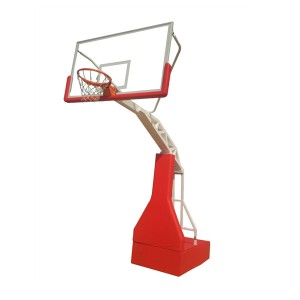 Moveable Traning Outdoor Stand Customized Logo Hydraulic Basketball Hoop
