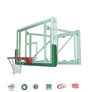 Customized Wall Mounted Safety Tempered Glass Basketball System