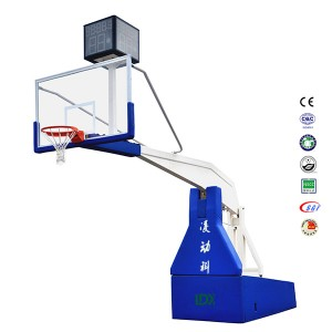 Fiba Professional Basketball Equipment Electric Hydraulic Basketball StandHoop for Sale