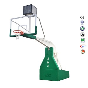Pro Sports Equipment Indoor Hydraulic Basketball Hoop Stand
