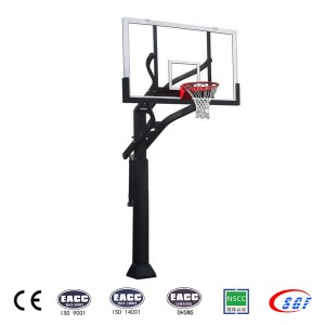 Height Adjustable Outside Inground Kids Basketball Goal for Sale