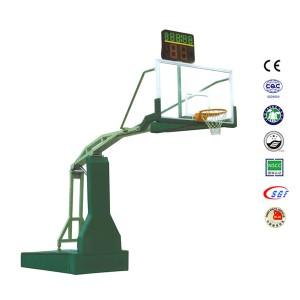 Movable Sporting Goods 10ft Electric Hydraulic Basketball Stand For Sale