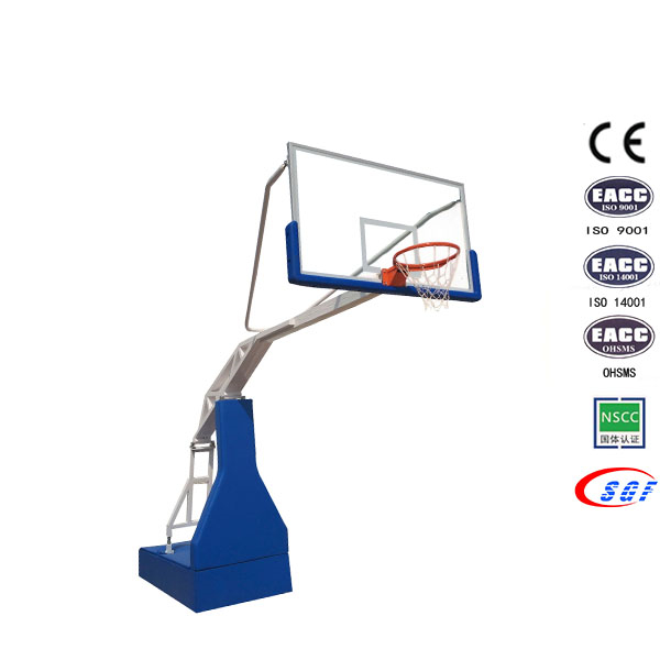 Gym khoom Steel puag Portable Electric Hydraulic Basketball Hoop