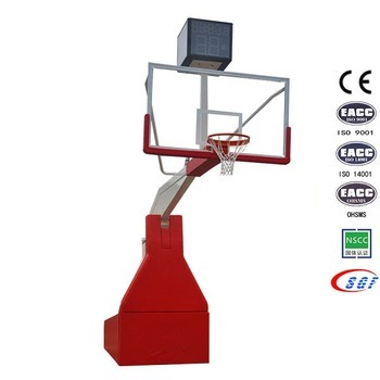 Basketbol Equipment Set Electric Hydraulic Folding Basketbol Stand