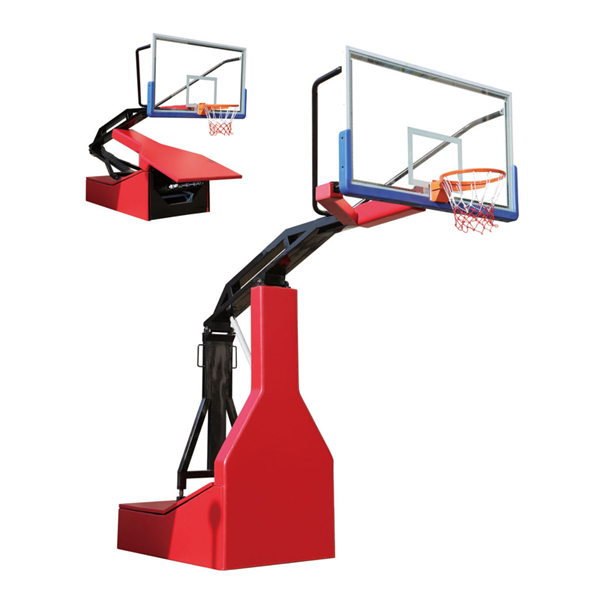 Basketbol Equipment Glass Omurga Portable Spring Basketbol Hoops Stand Yardım