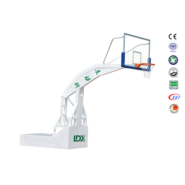 Professional Basketball Set, Utendørs Basketball Stå med glass Backboard