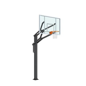 Height Adjustable Free Standing in-Ground Basketball Stand For Sale