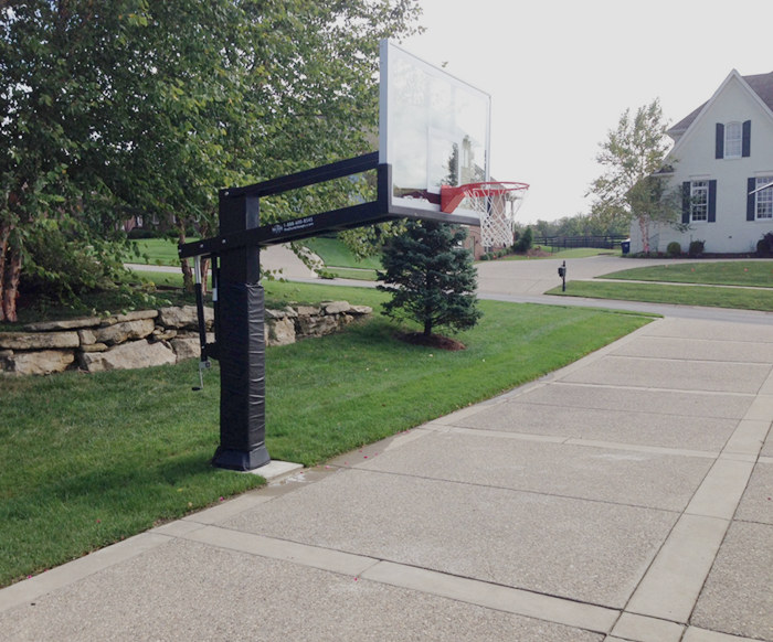 Installation method of underground fixed basketball stand ?
