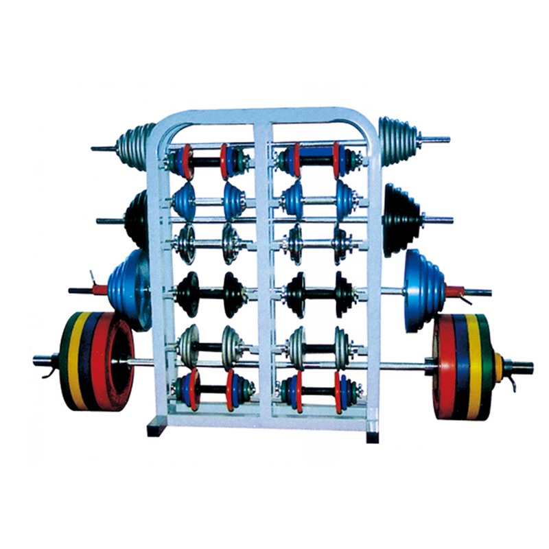 Core Home Fitness Device Powerlifting Barbell Gym Dumbbell Set With Rack