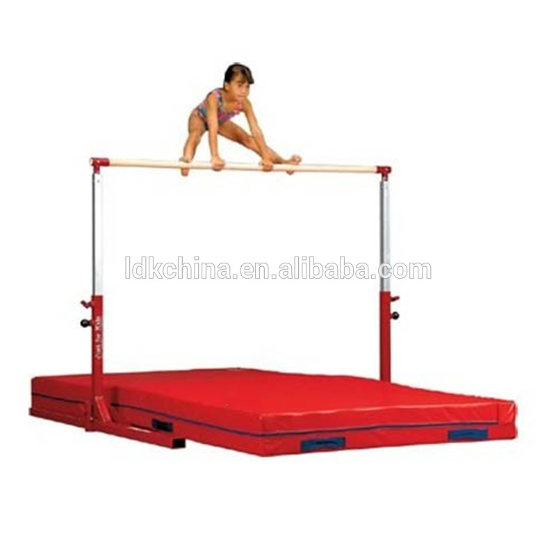 Adjustable free standing gymnastic horizontal bar for kids gymnastic equipments