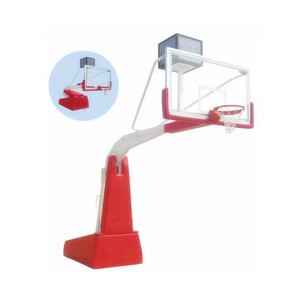 Indoor Tempered Glass Portable Basketball Set Stand With Wheels