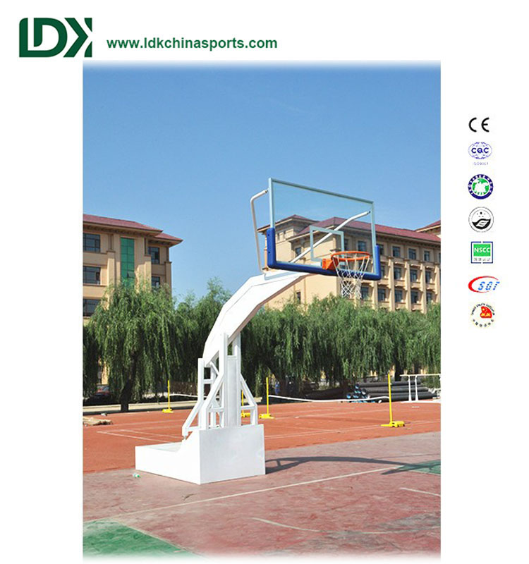 Basketball uprights outdoor hydraulic basketball hoop