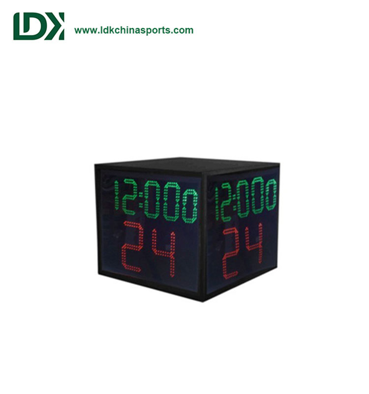Four-sided clock 24 second basketball shot clock