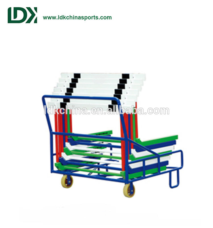 Premium quality durable track and field training hurdles cart