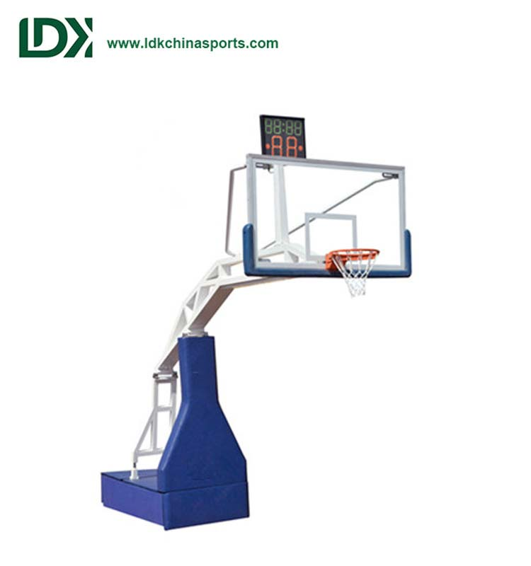 Stadium Training Equipment Portable Hydraulic Basketball Hoop System For Sale